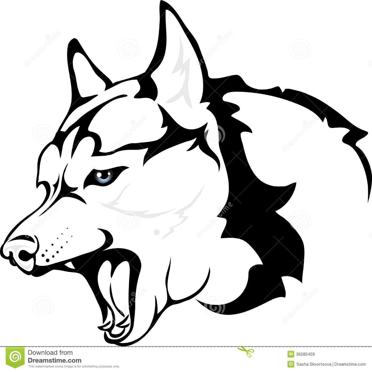 Evil Huskies Royalty Free Stock Images - Image: 36585459 Angry Black Wolf Drawing