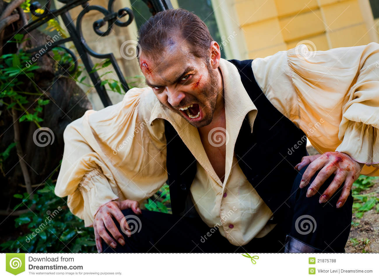Evil male vampire stock photo. Image of horror, angry ...