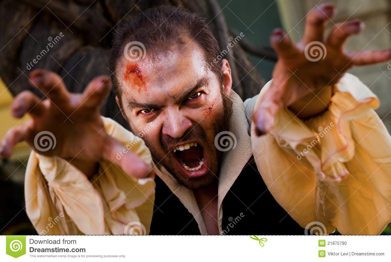 Evil Male Vampire Stock Photo - Image: 21875790