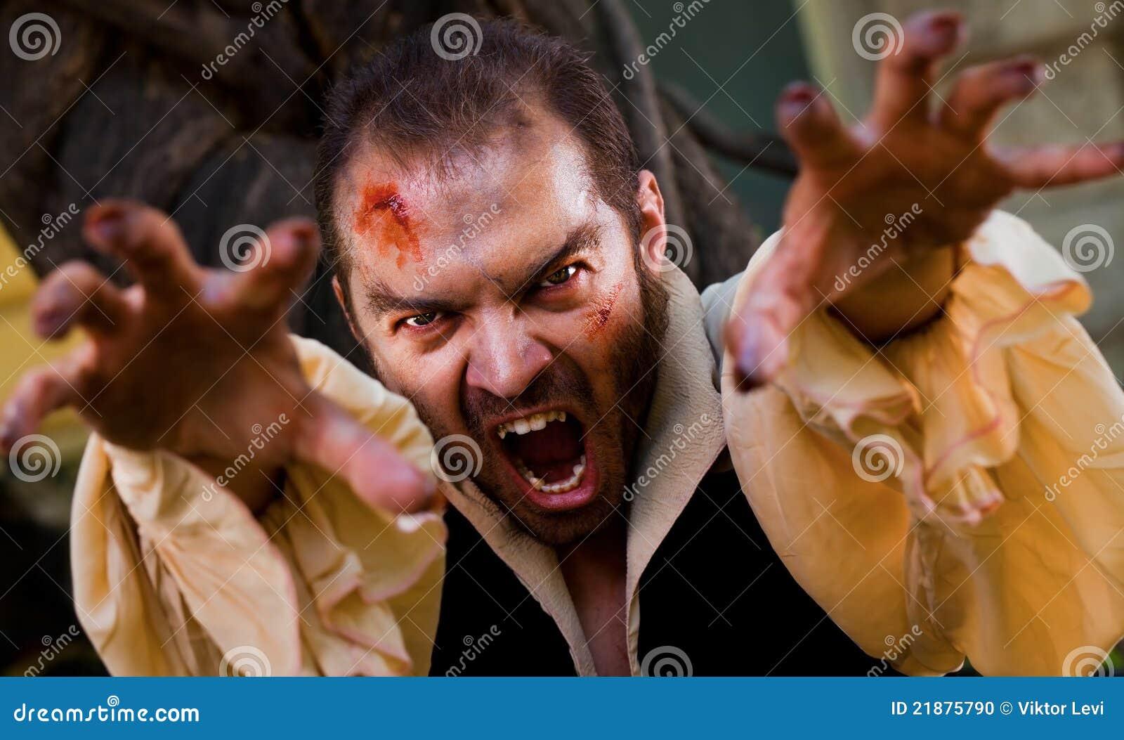 Evil Male Vampire Stock Photo - Image: 21875790