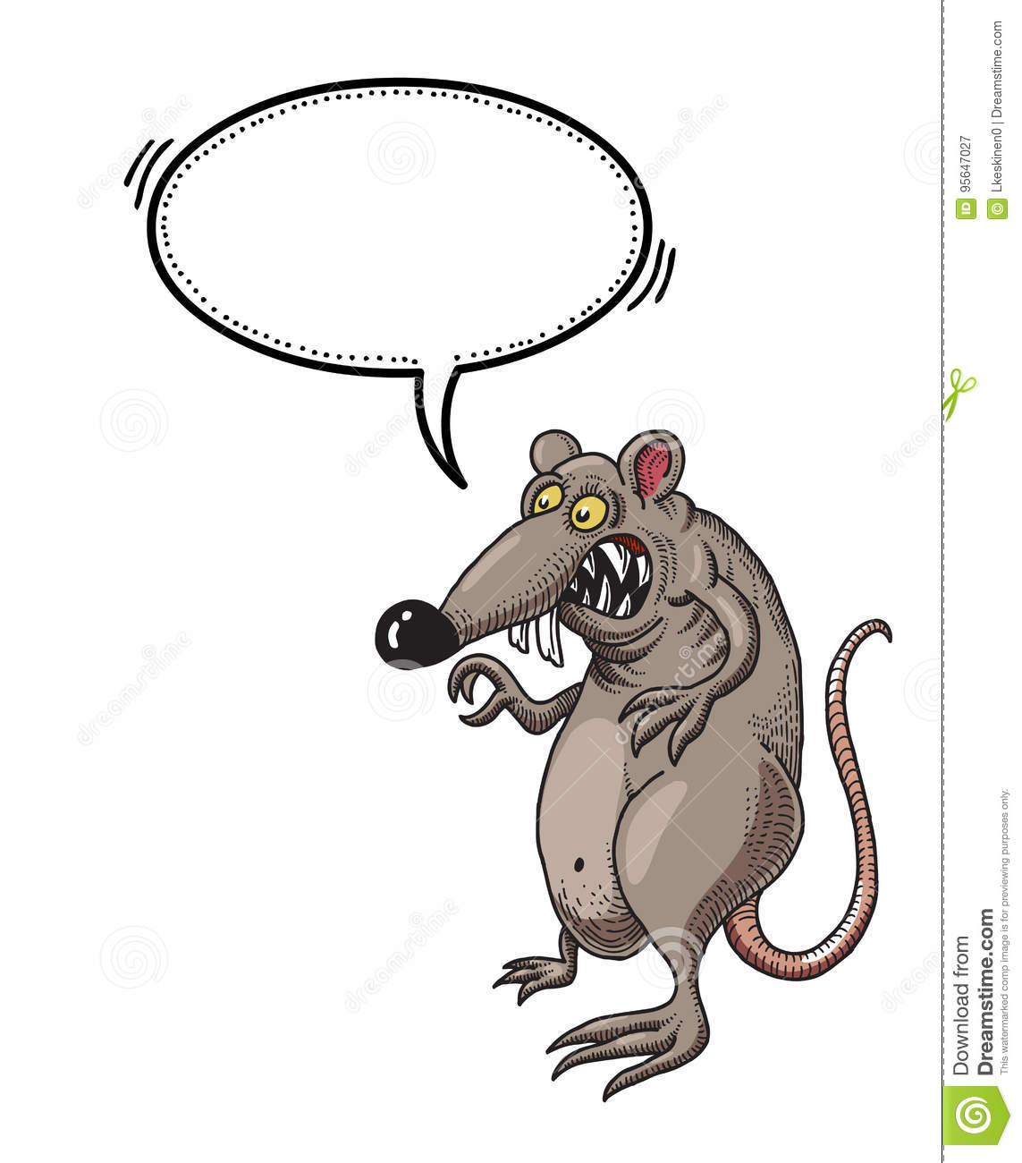 Evil rat-100 stock vector. Illustration of drawing, evil ...