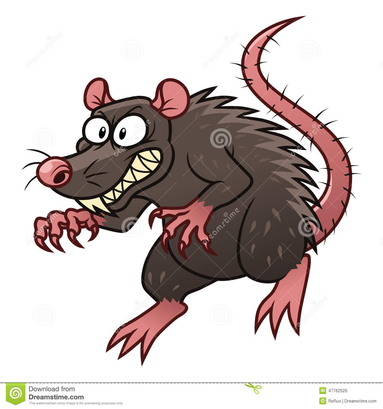 Evil rat stock vector. Illustration of villain ...
