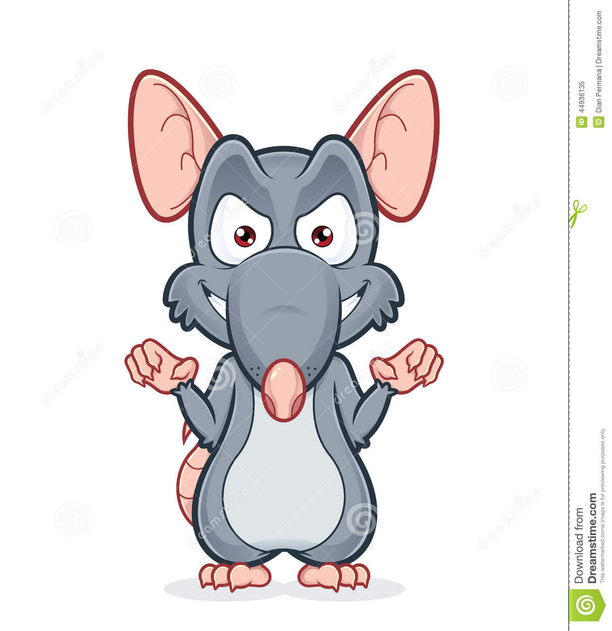 Evil Rat Stock Vector - Image: 44936135