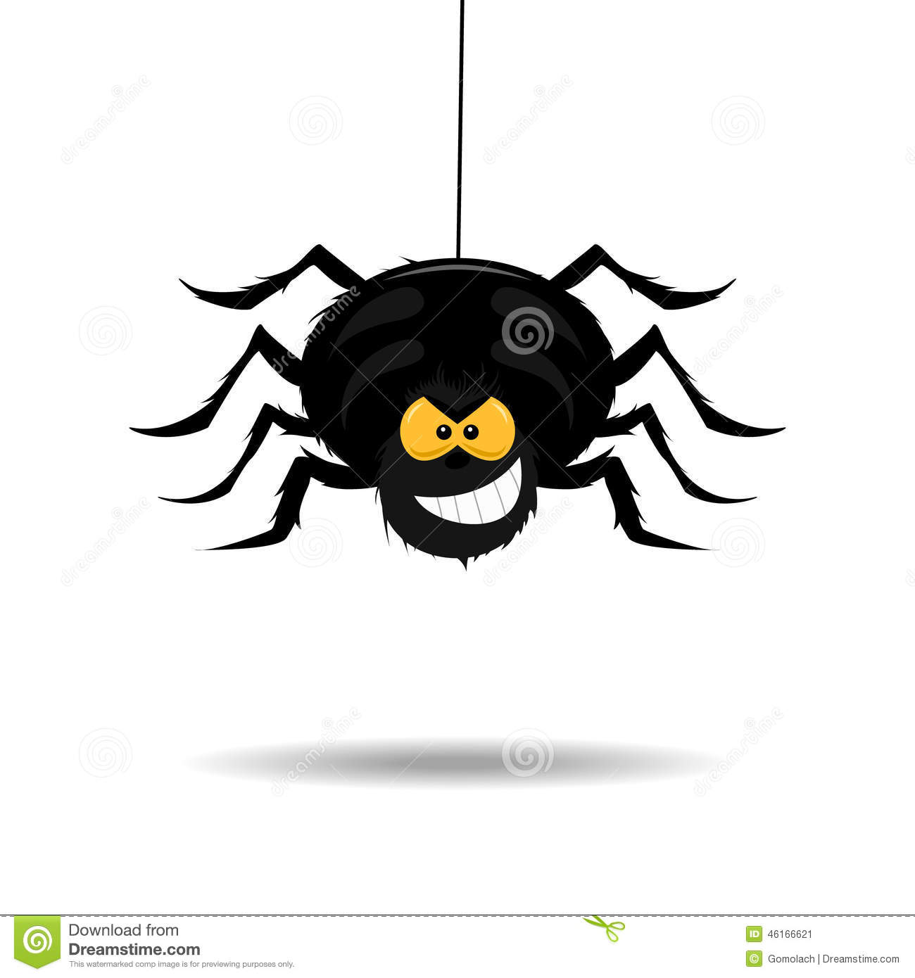 evil and scary spider stock vector image 46166621