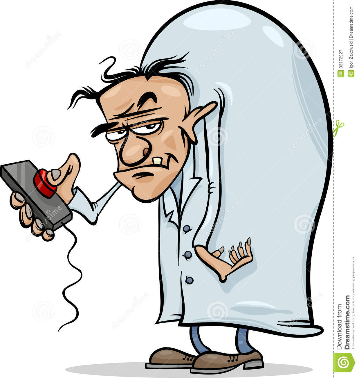 Evil Scientist Cartoon Illustration Royalty Free Stock Photography ...