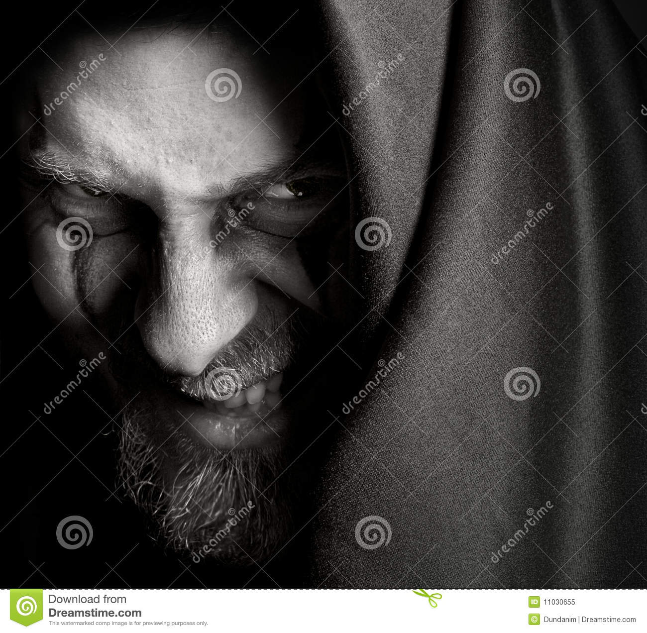 Evil Sinister Man With Malefic Wicked Grin Royalty Free Stock Photo - Image: 11030655
