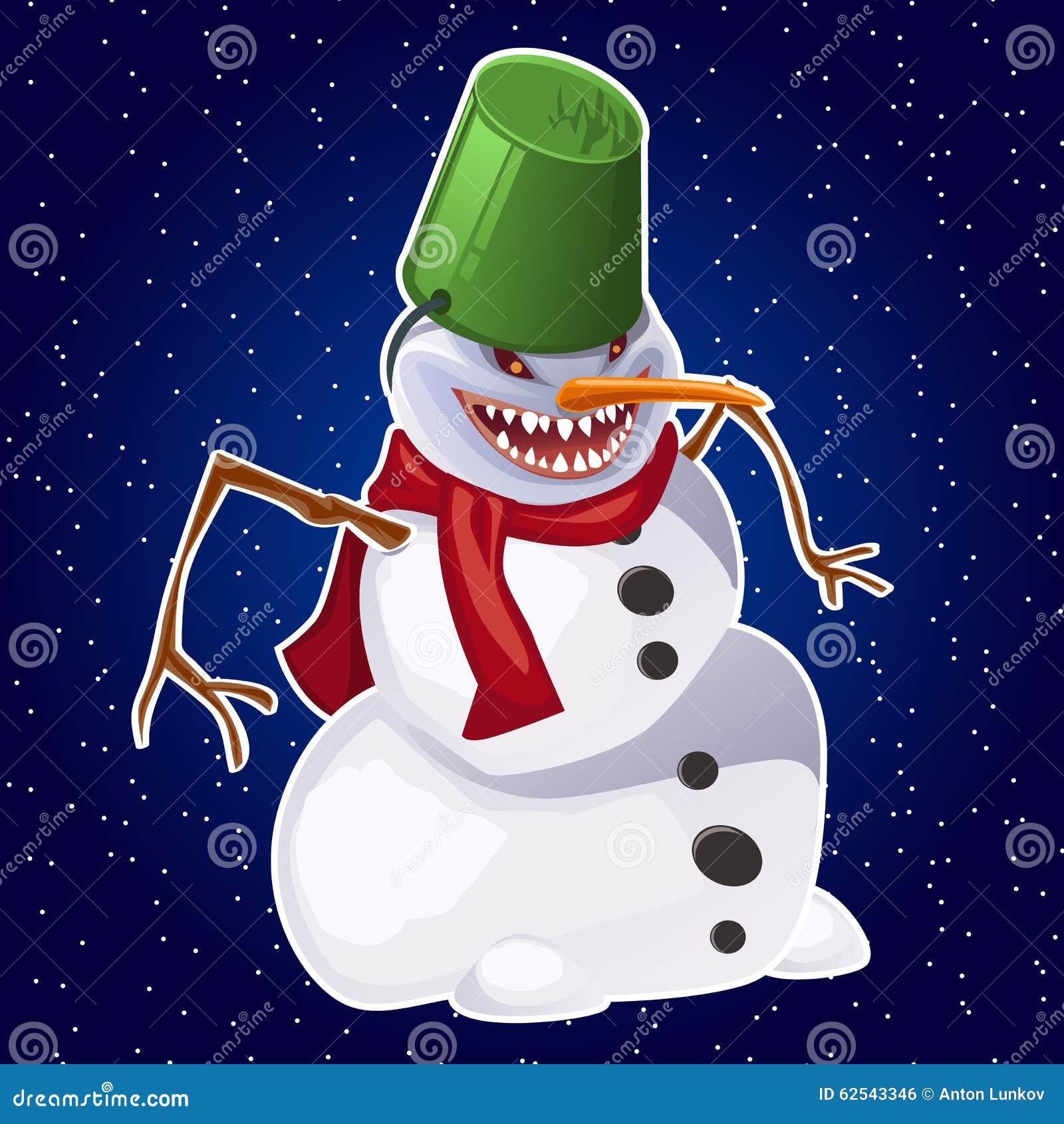 a7dd4e025e5 Evil snowman wearing carrot nose
