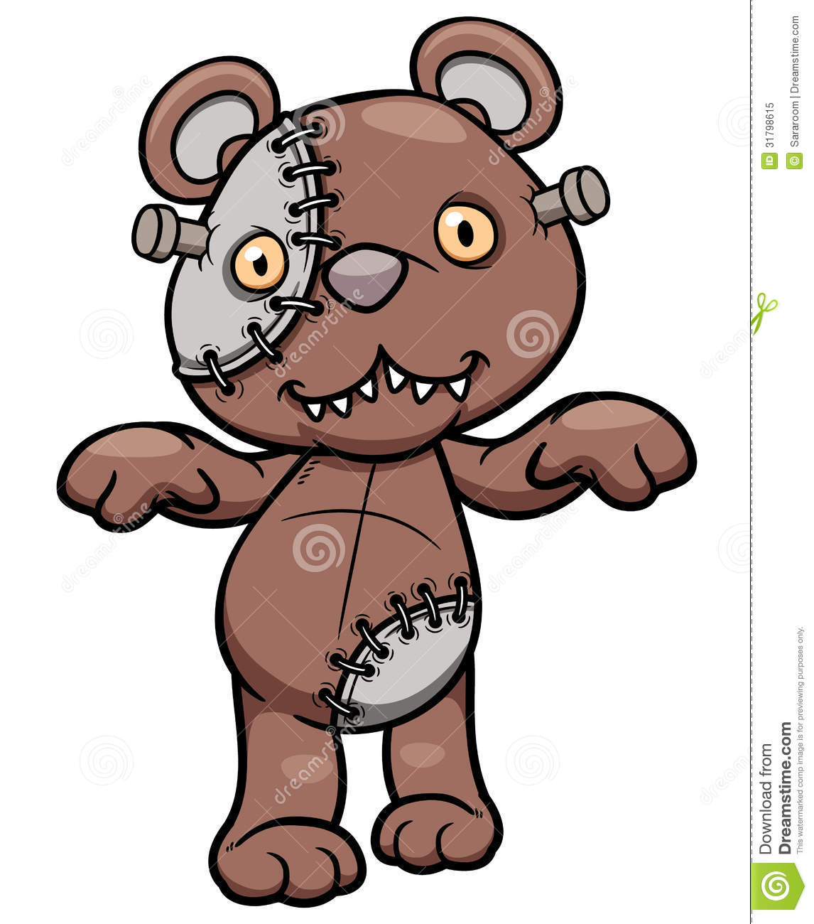Evil Teddy Bear Stock Vector Image Of Gradient Cartoon