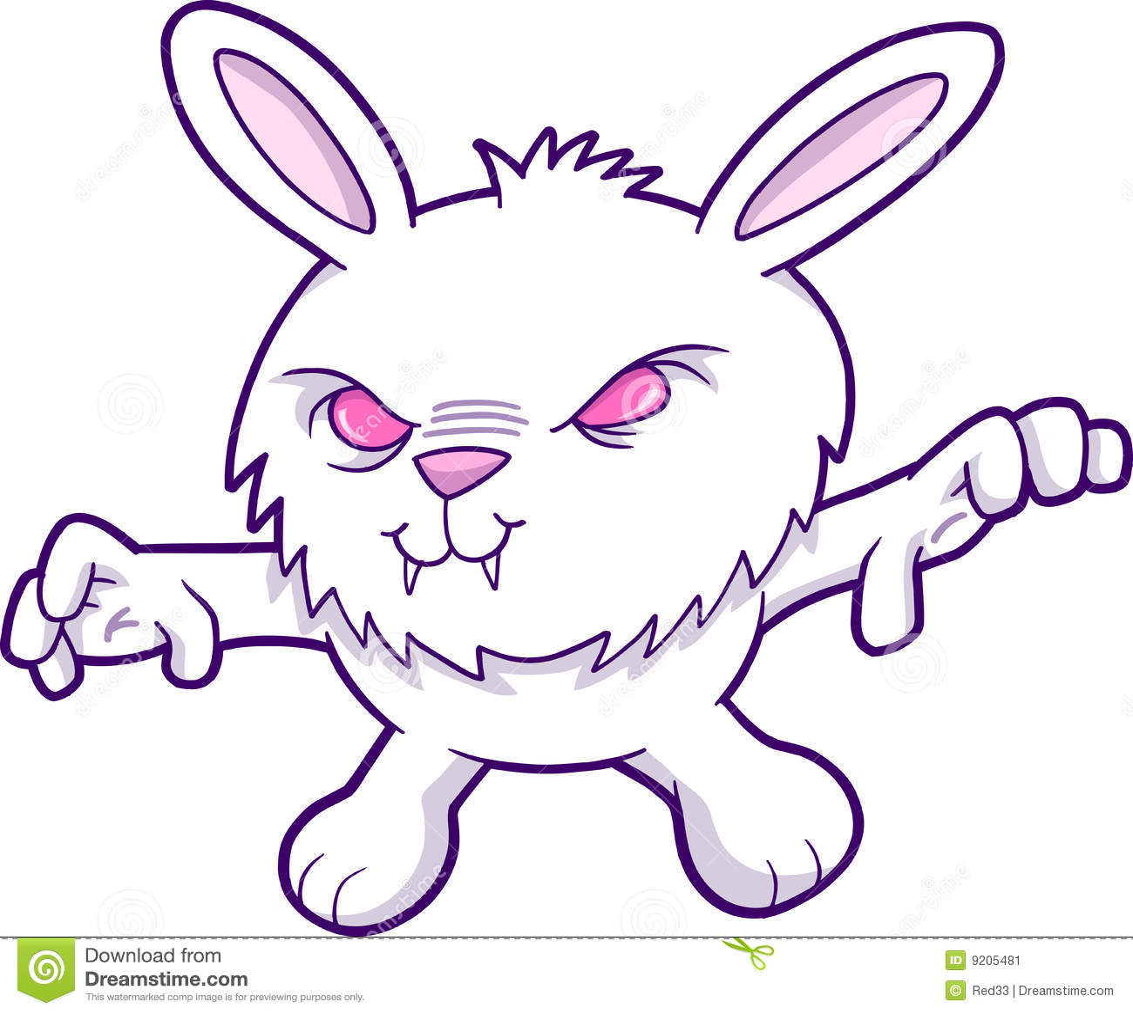 Evil Vampire Rabbit Vector stock vector. Illustration of ... - photo#48