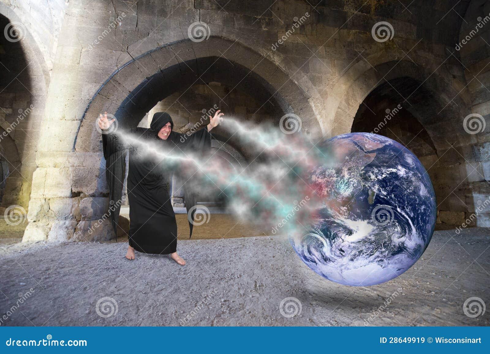 Evil Wizard Cast Spell, Creates World Apocalypse, Doomsday