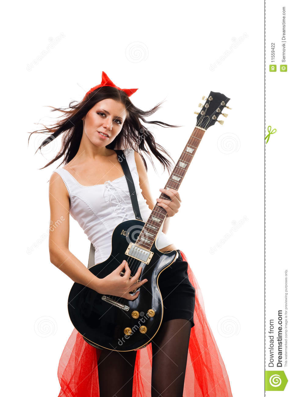 Evil Woman Rock Star Guitarist Stock Photography - Image ...
