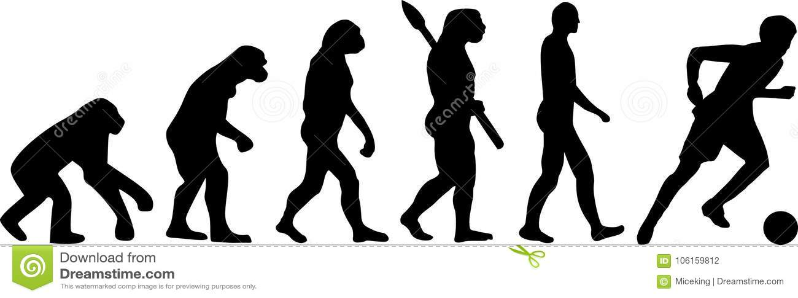 Evolução Do Futebol Do Futebol Ilustração do Vetor - Ilustração de ... 3296576b71f65