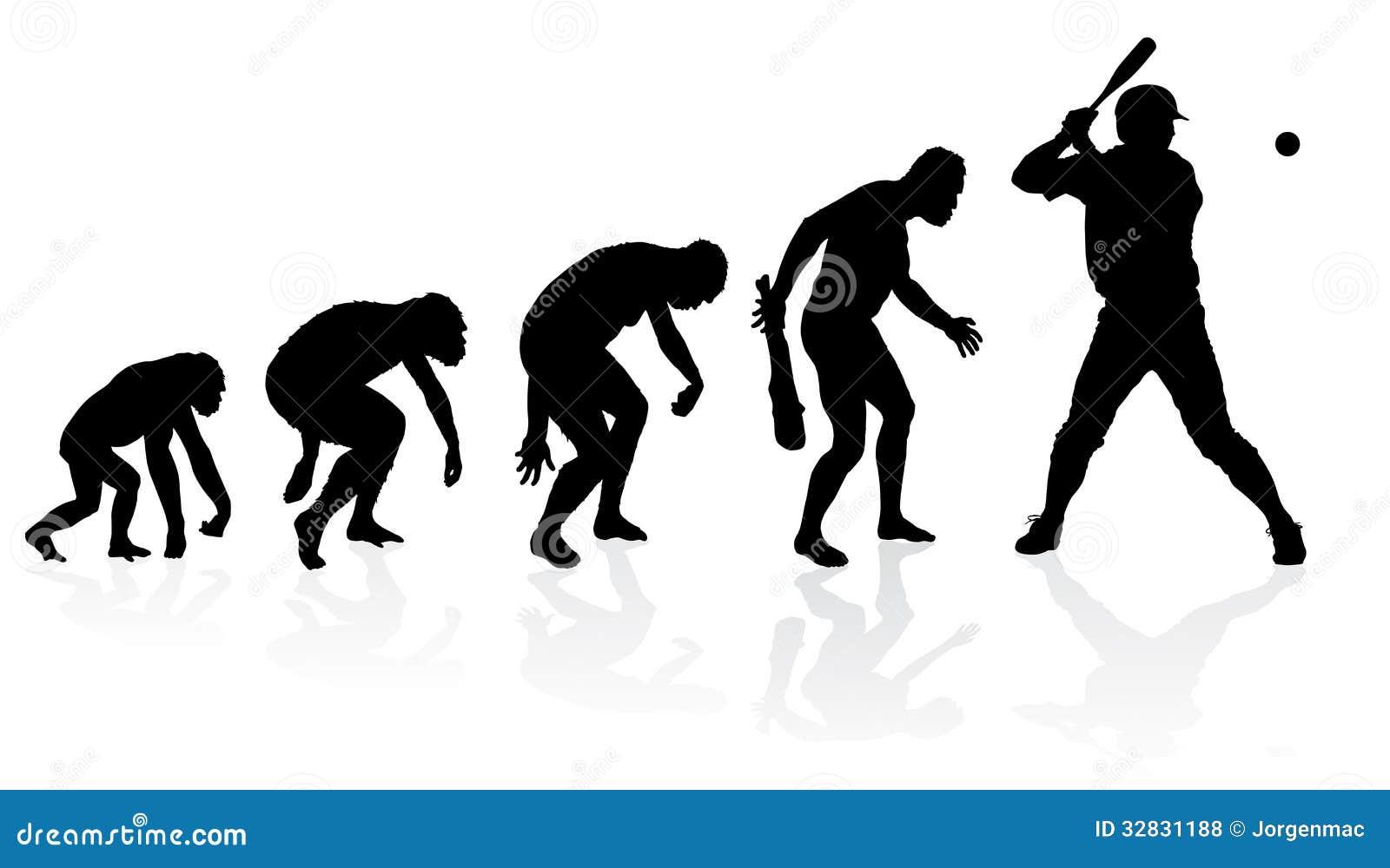evolution of a baseball player stock vector image 32831188