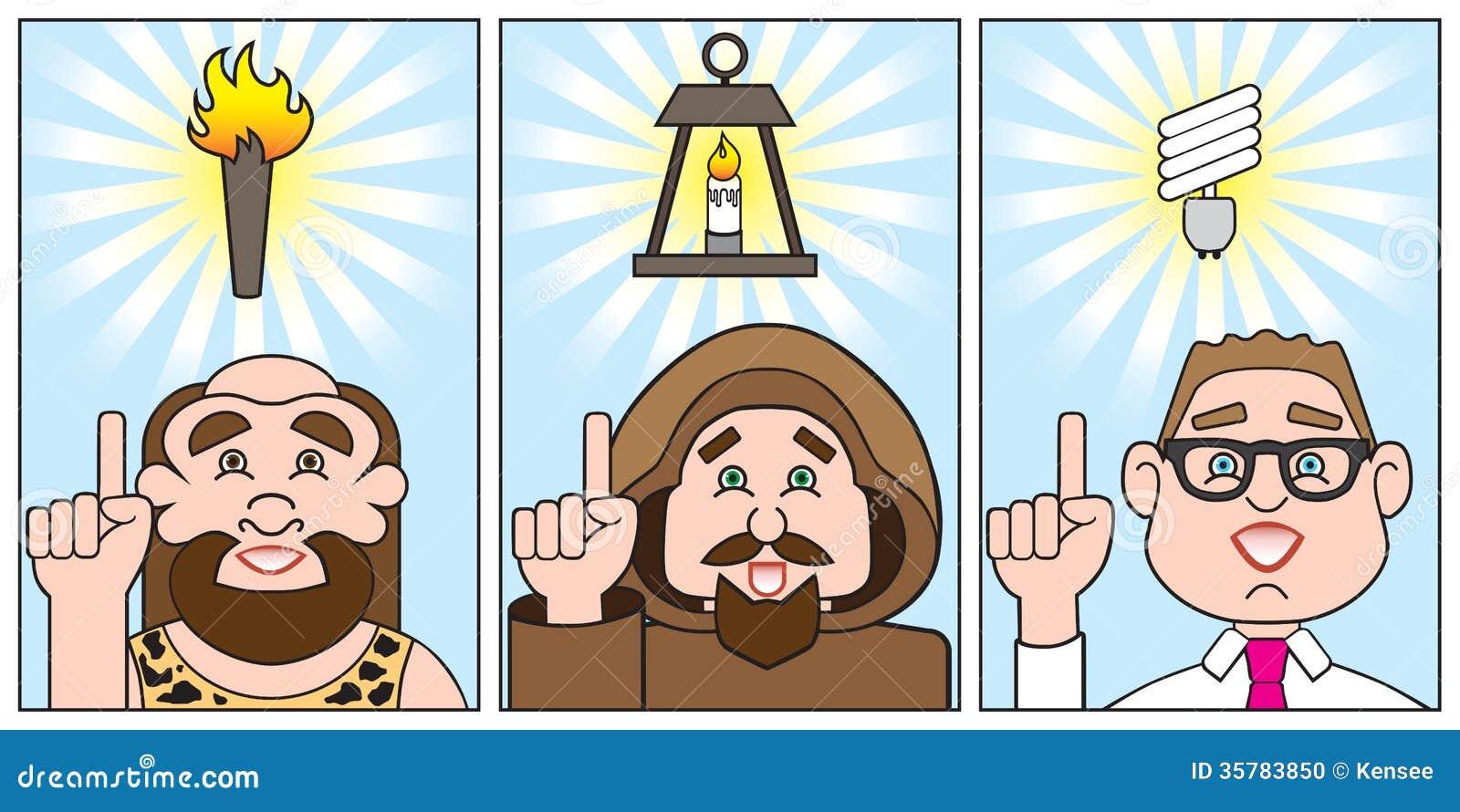 Evolution of a bright idea stock vector. Image of evolve ...