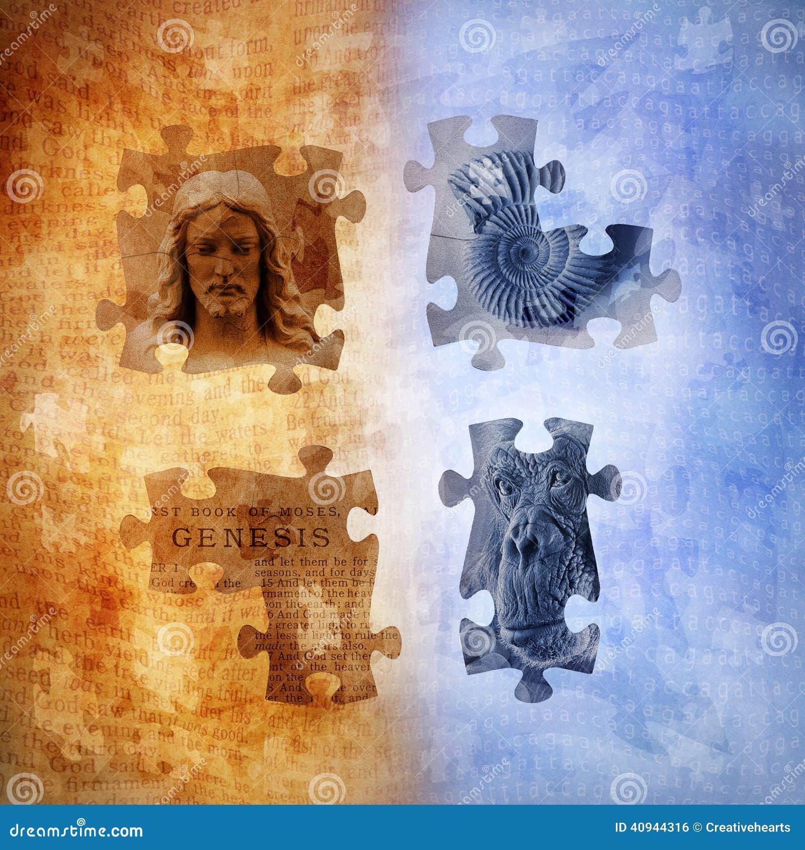 Evolution And Creationism Stock Illustration Image 40944316