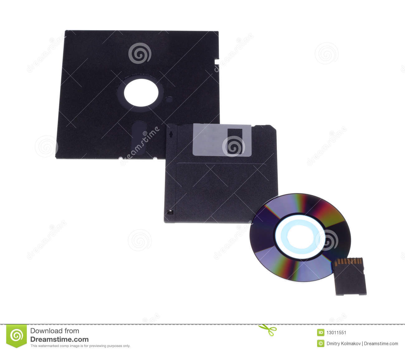 Evolution Of Electronic Data Carriers Stock Image Image