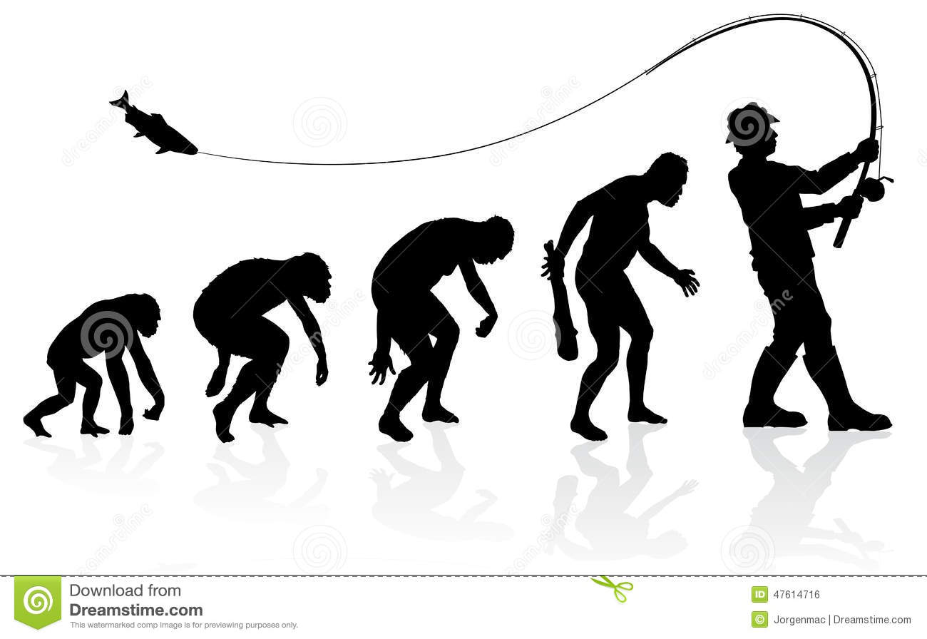 Great illustration of depicting the evolution of a male from ape to ...