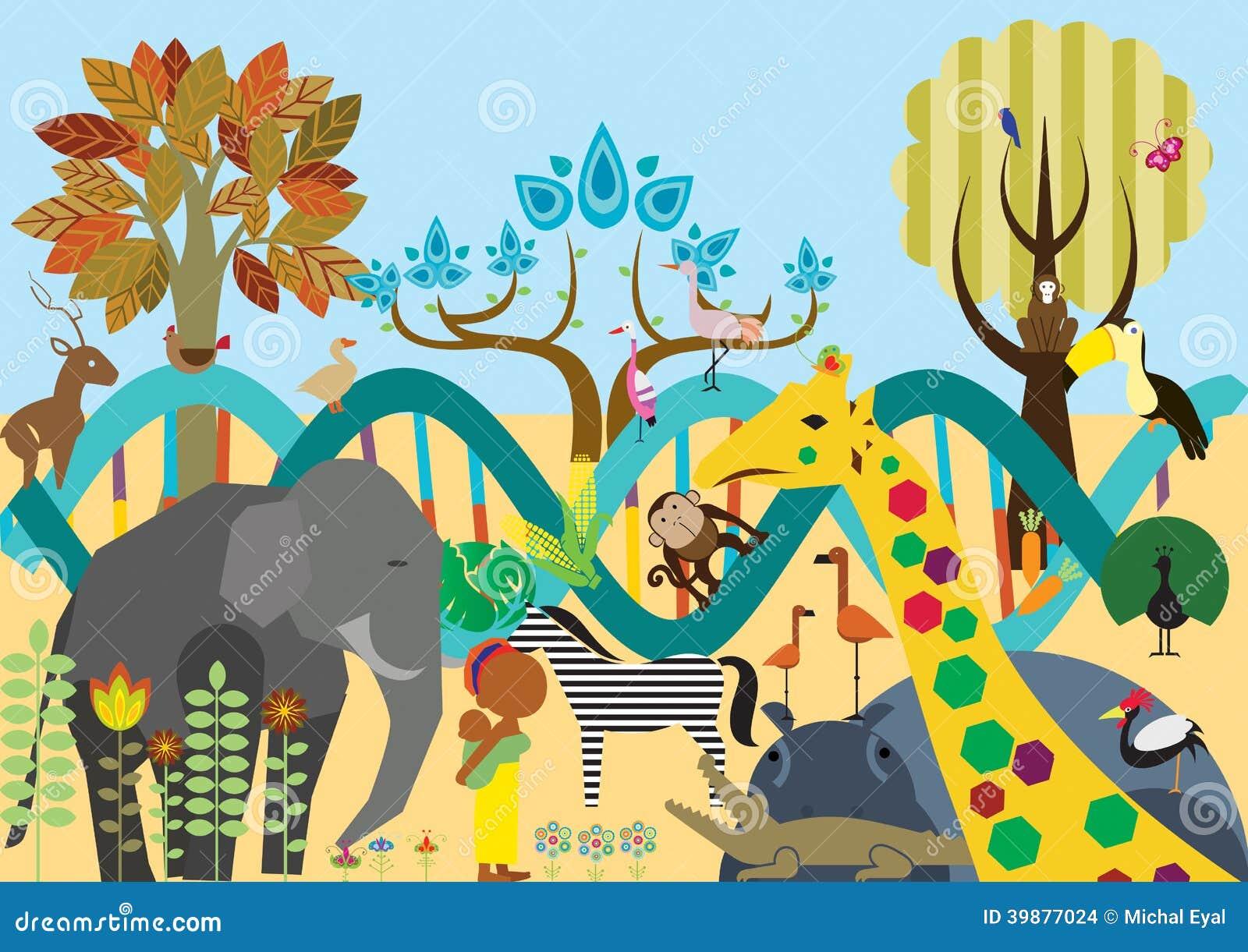 Evolution Stock Illustration Illustration Of Genetics 39877024