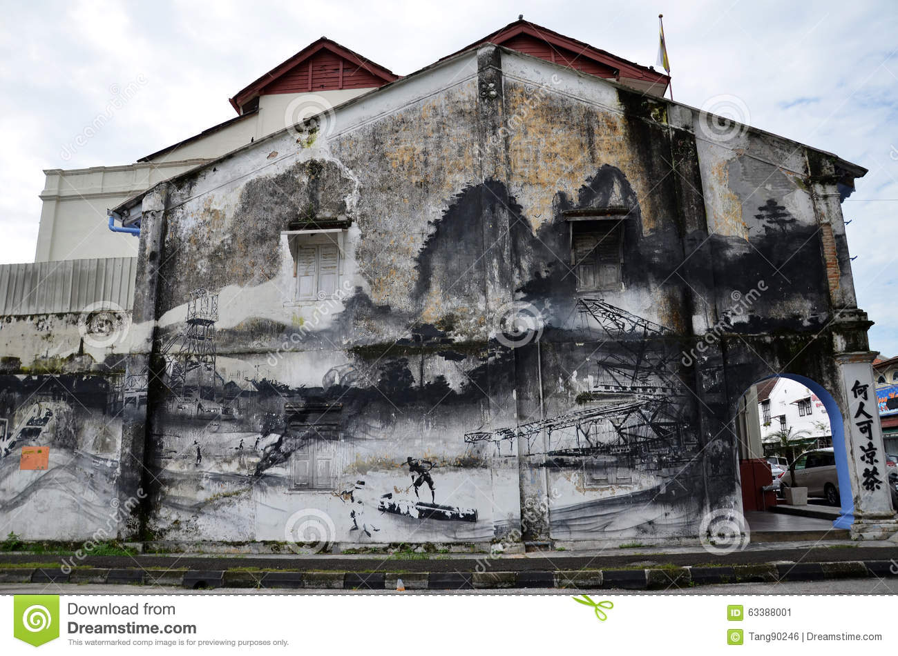 Evolution wall art painted by famous artist ernest for 7 mural ipoh