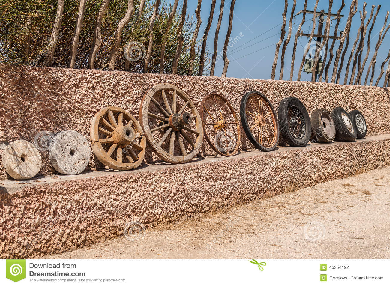 Wheel And Tire >> Evolution Of Wheels Stock Photo - Image: 45354192