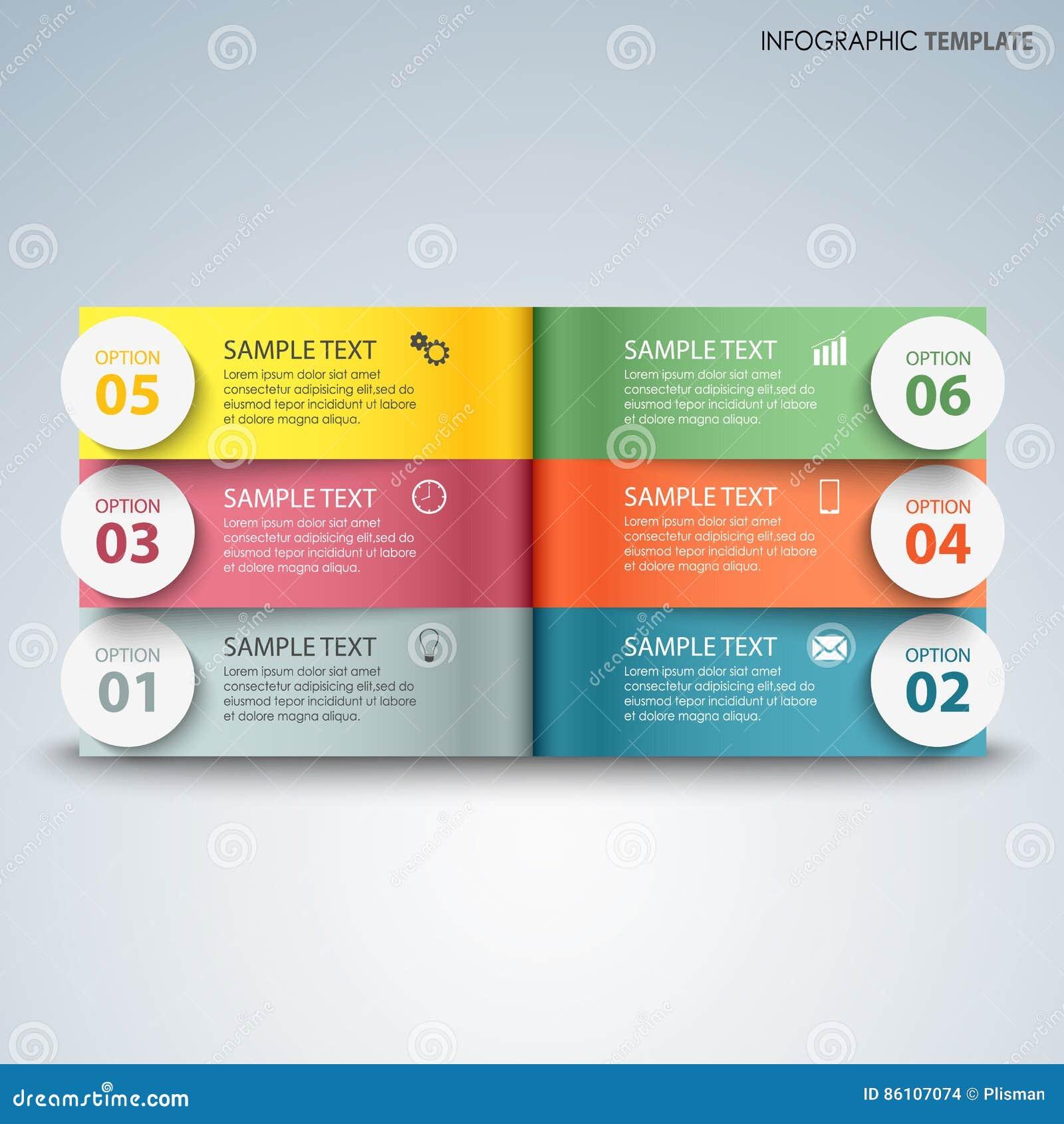 Ewidencyjna grafika z kolorowymi stronami nad inny szablon