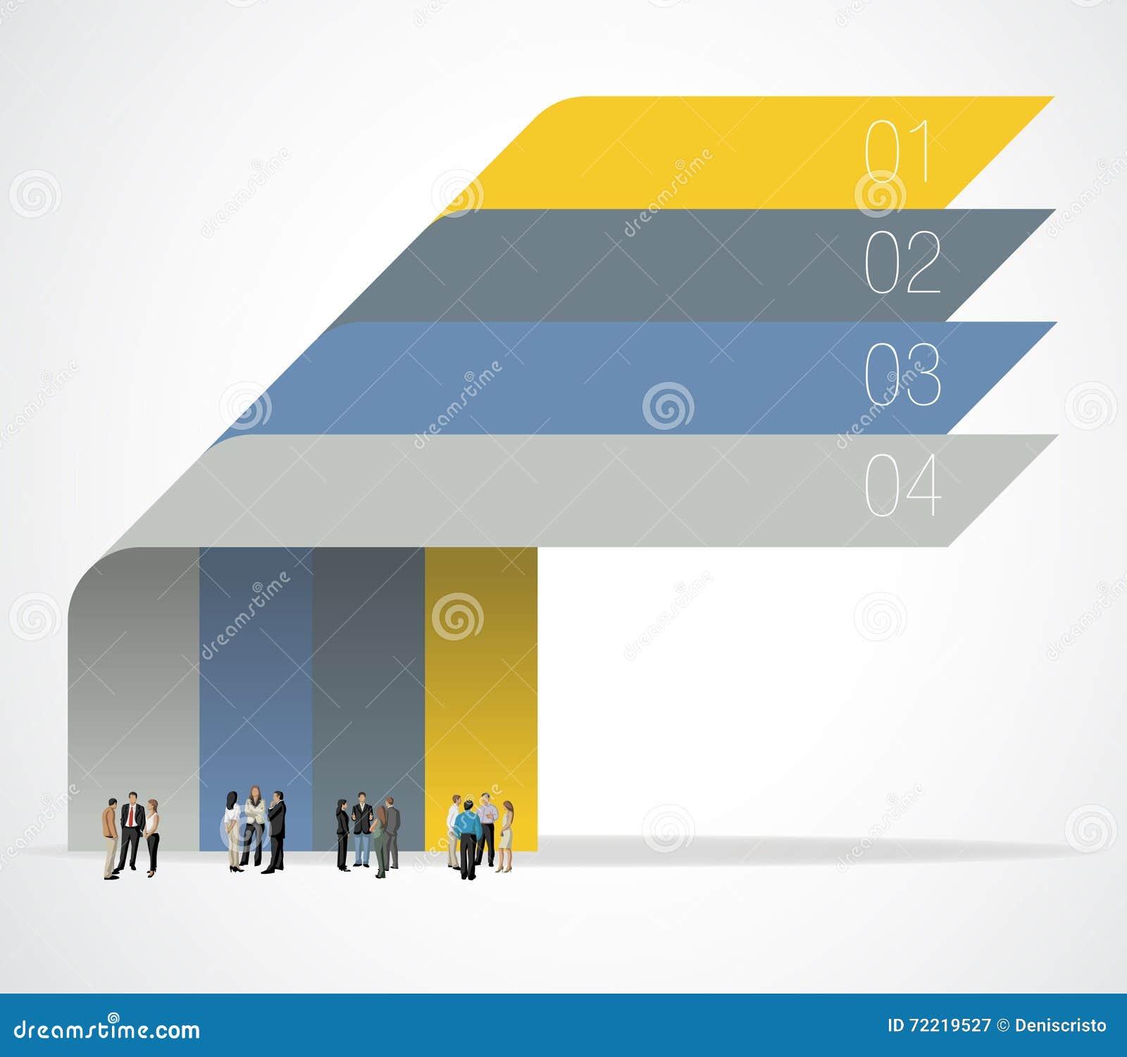 Ewidencyjna grafika z ludźmi biznesu