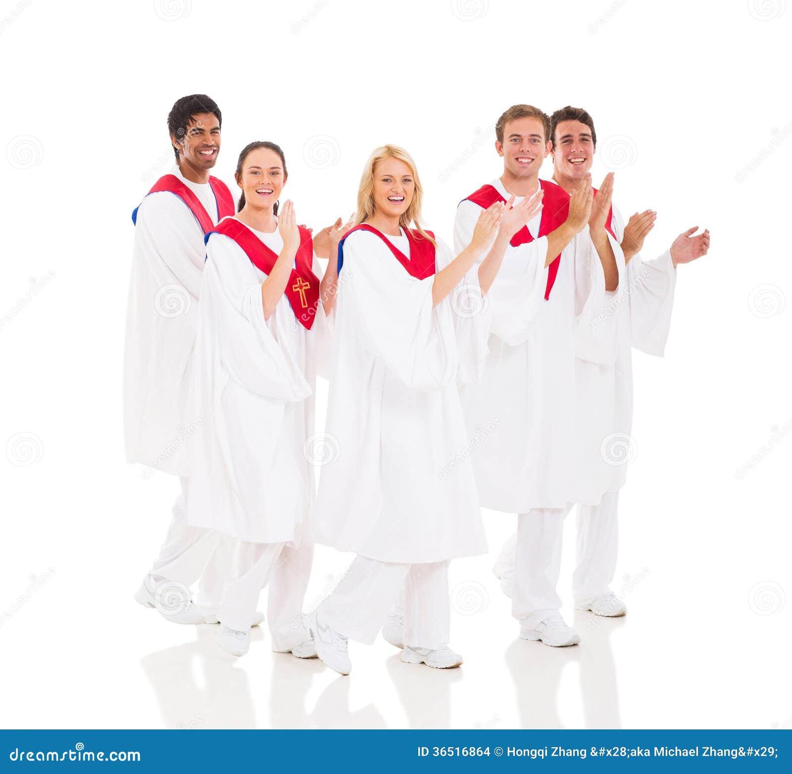 Exécution de choeur d église