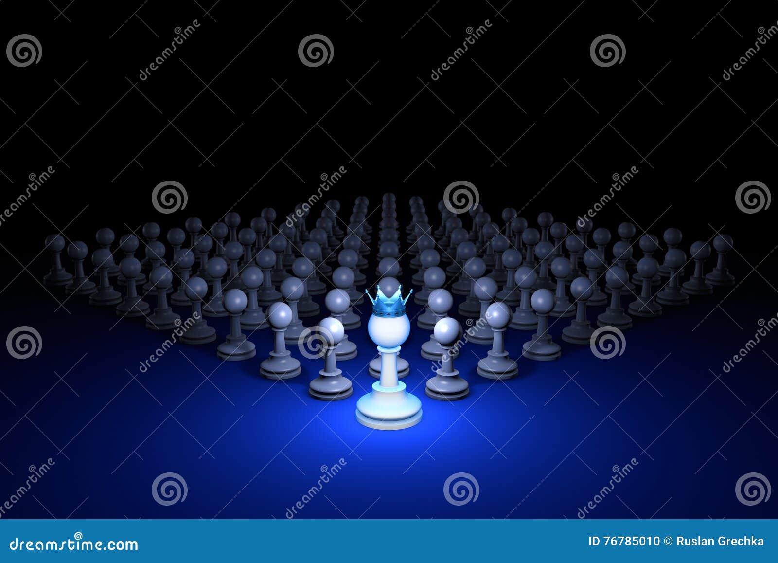 Exército forte & x28; metaphor& x29 da xadrez; ilustração da rendição 3d Sp livre