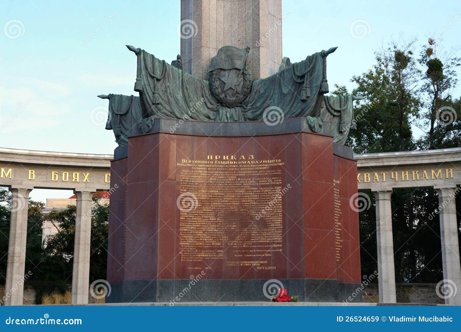 Exército vermelho em Schwarzenbergplatz, Viena, Áustria