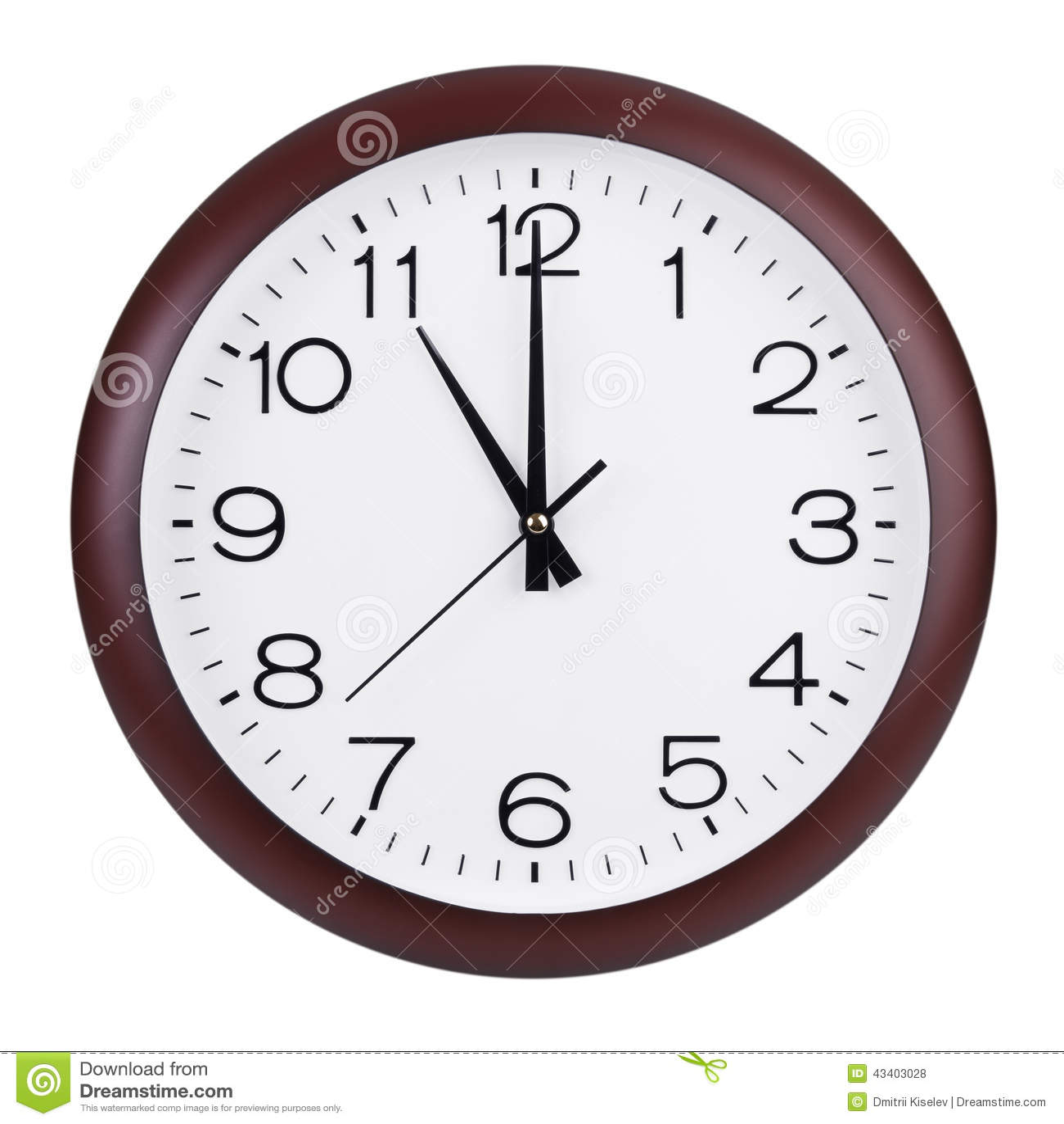 Exactamente once horas en un dial redondo