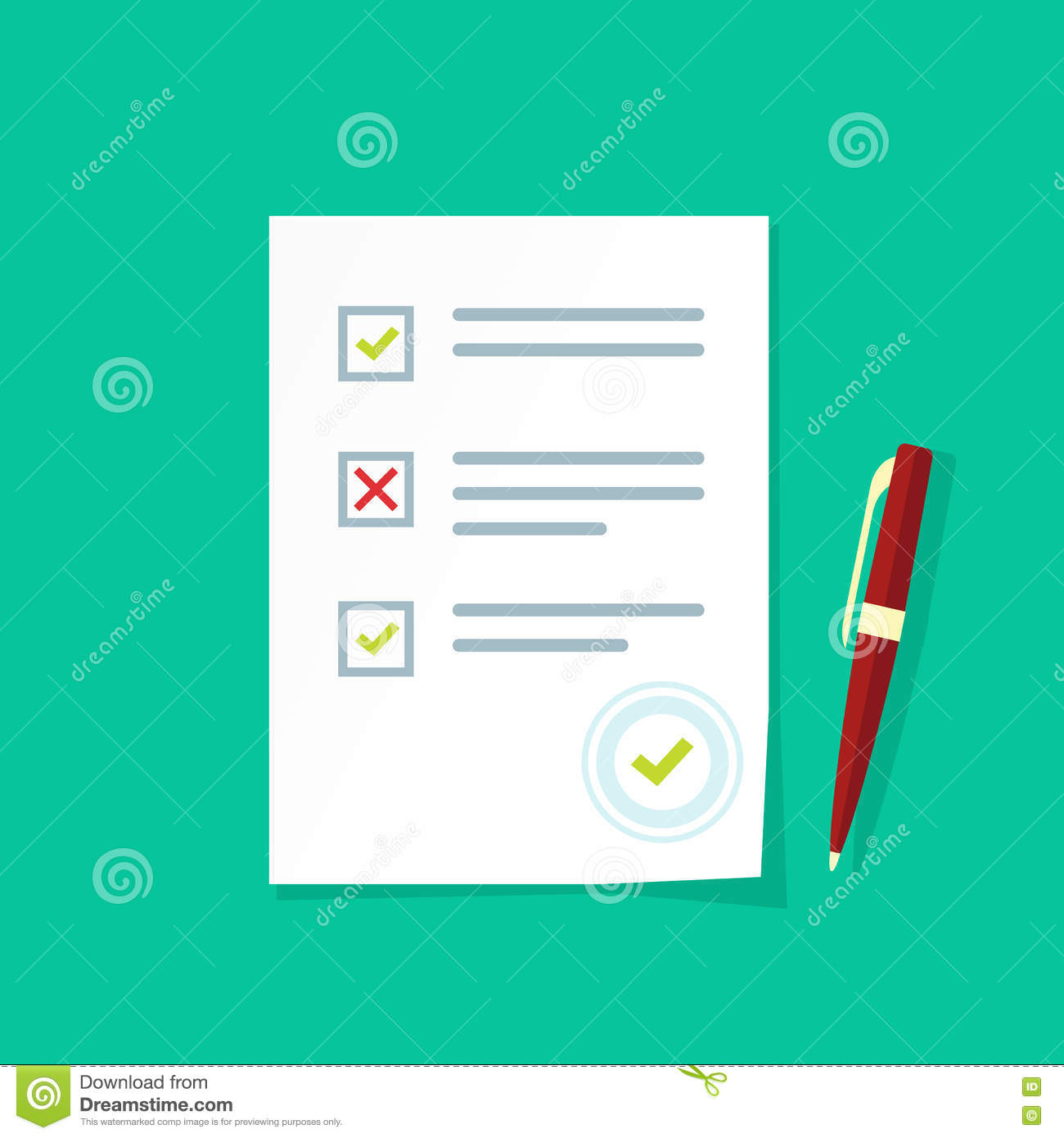 survey or exam form paper sheets pile with answered quiz