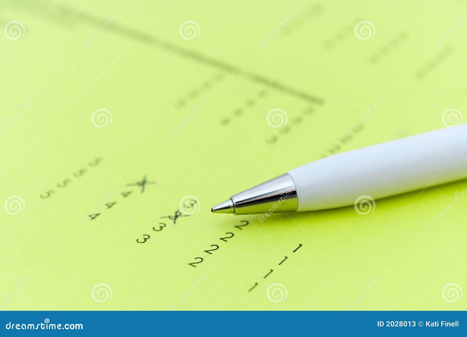 Examenåterkopplingsdatalista