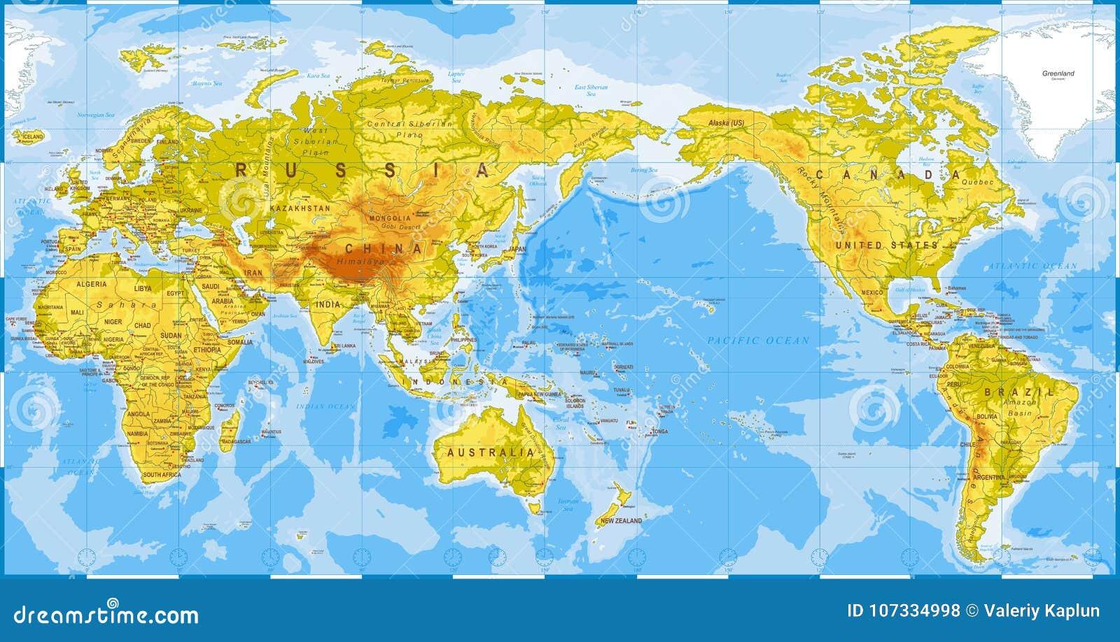 Carte Du Monde Chine Japon.Examen Medical De Carte Du Monde Asie Au Centre La Chine