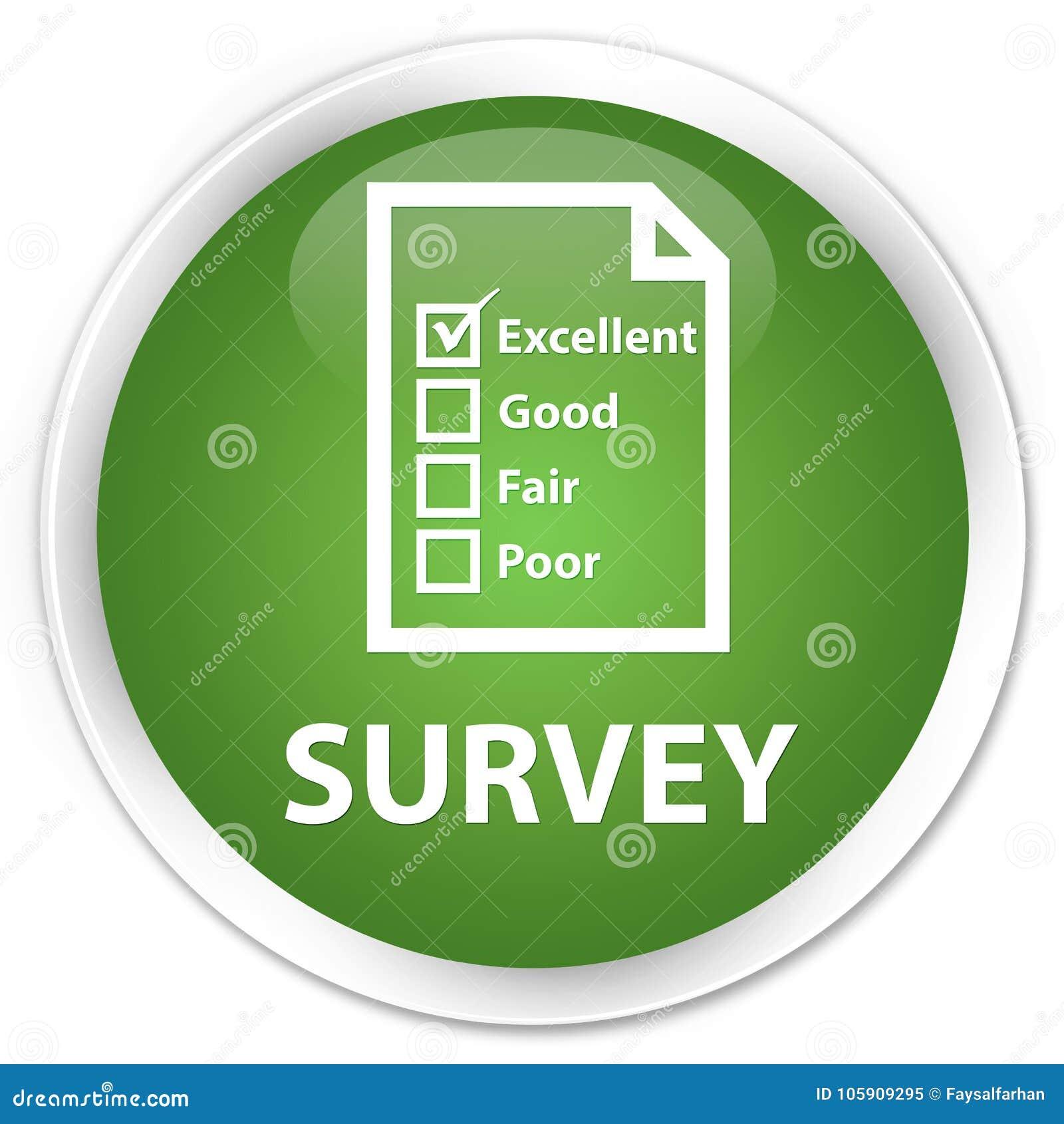 Examine (icono del cuestionario) el botón redondo verde suave superior
