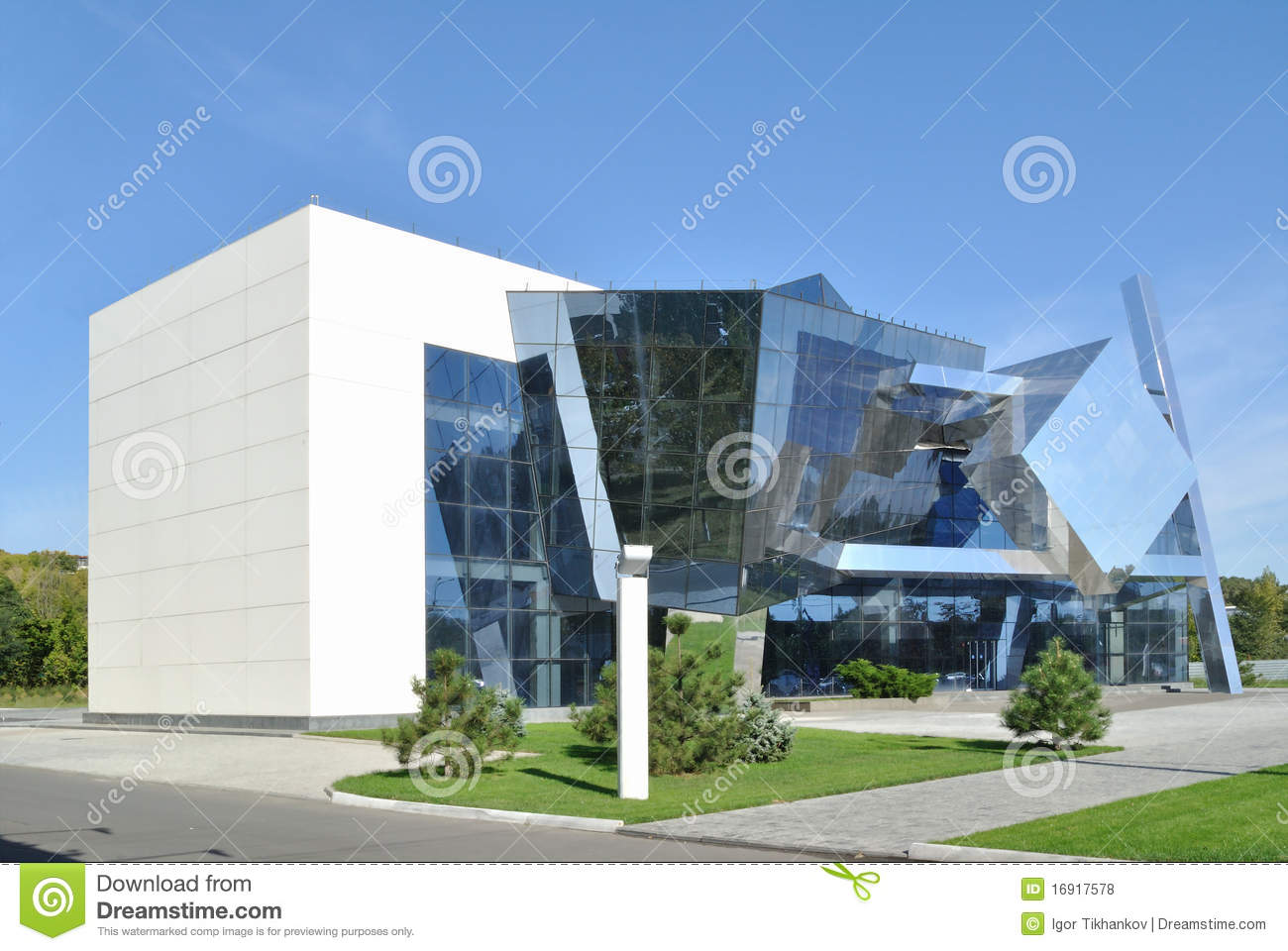 The example of cubism in modern architecture royalty free for Architecture moderne
