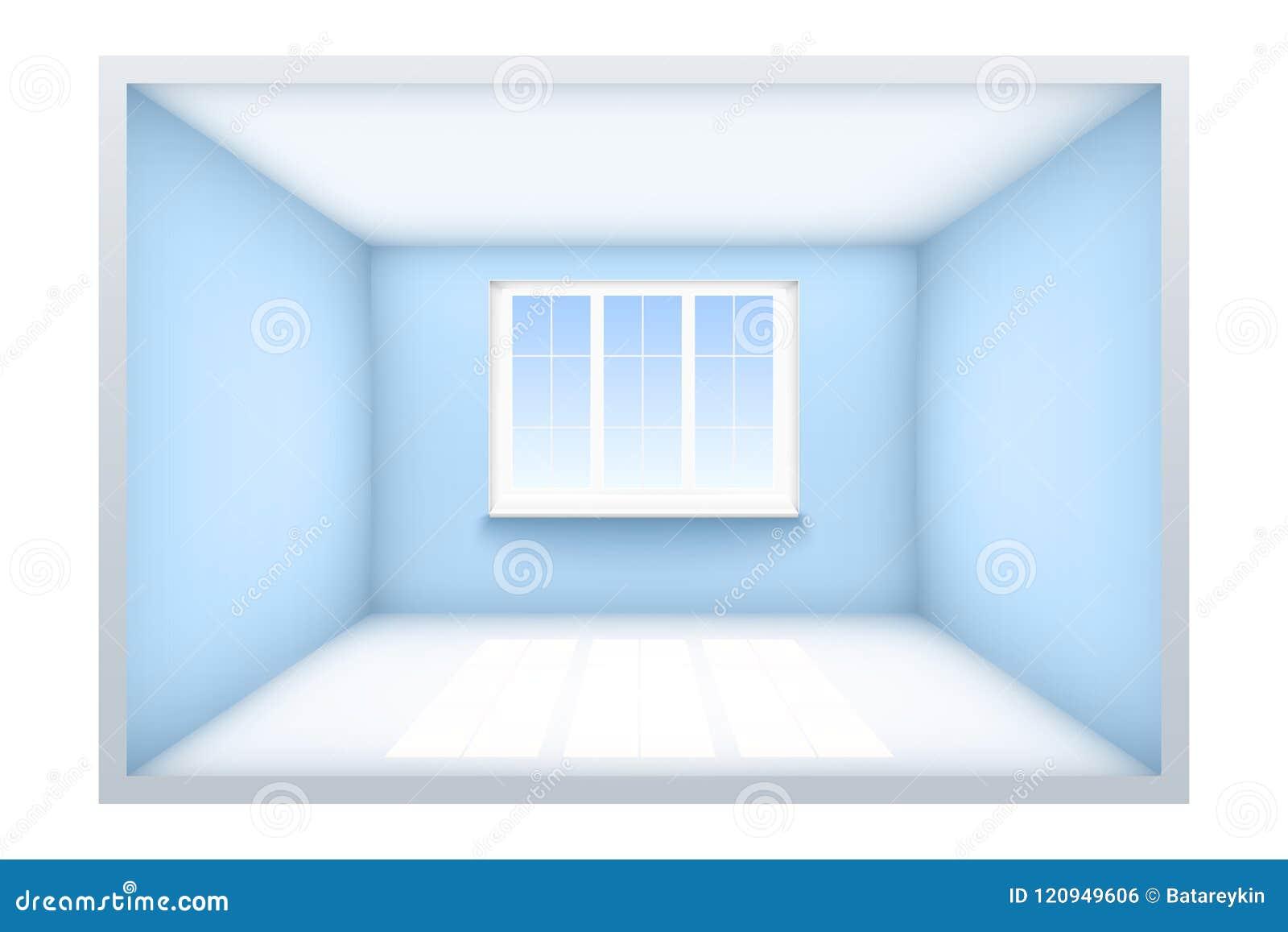 Example of empty room with window.