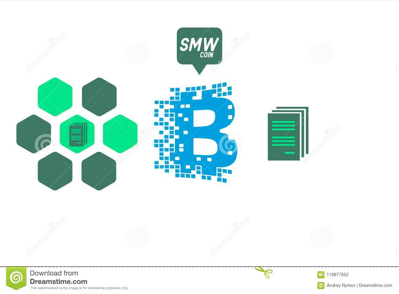 An Example Of Interaction Bitcoin On The Circuit Digital Economy Illustration Crypto Currency