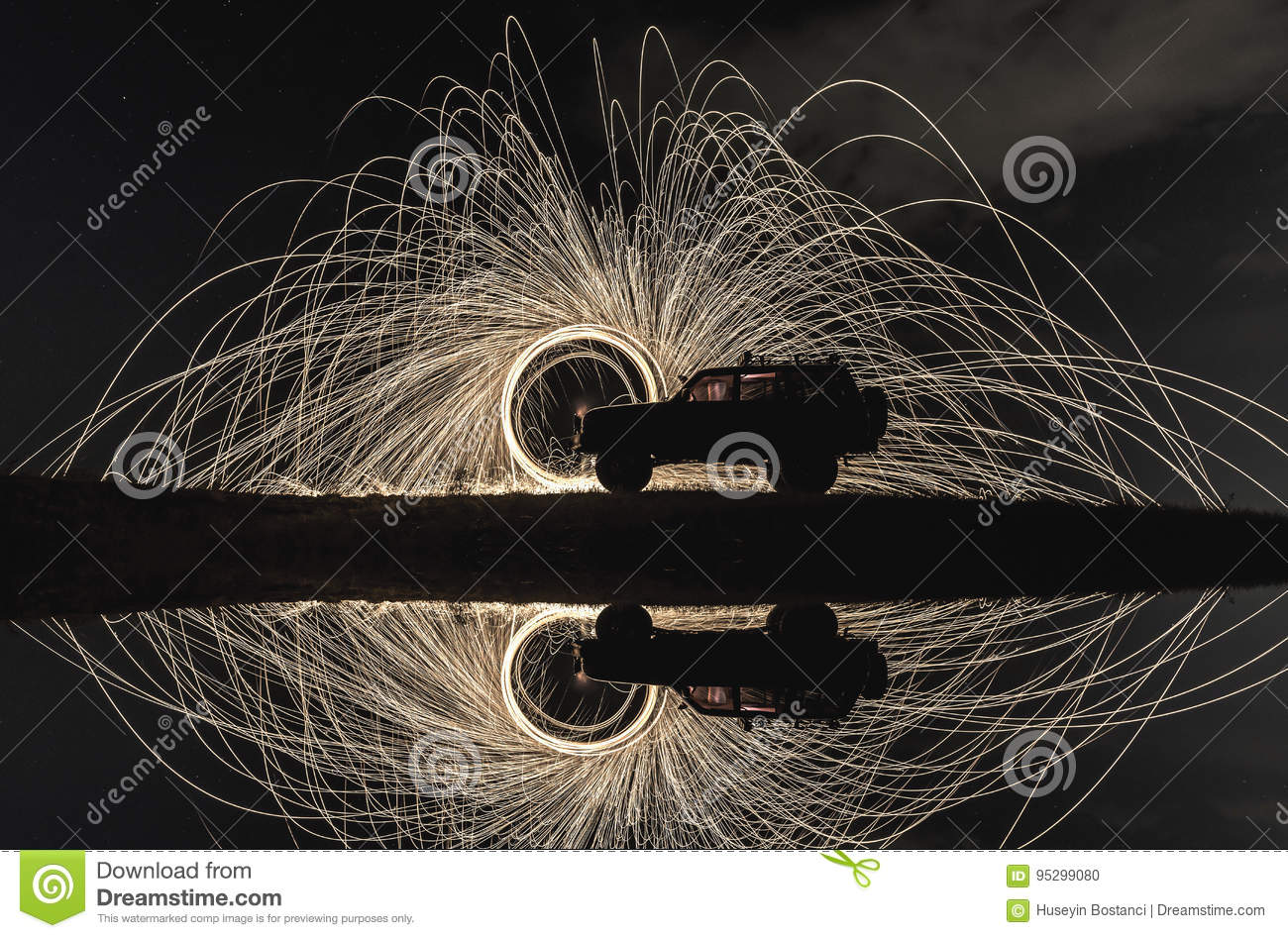 Example of long exposure photography
