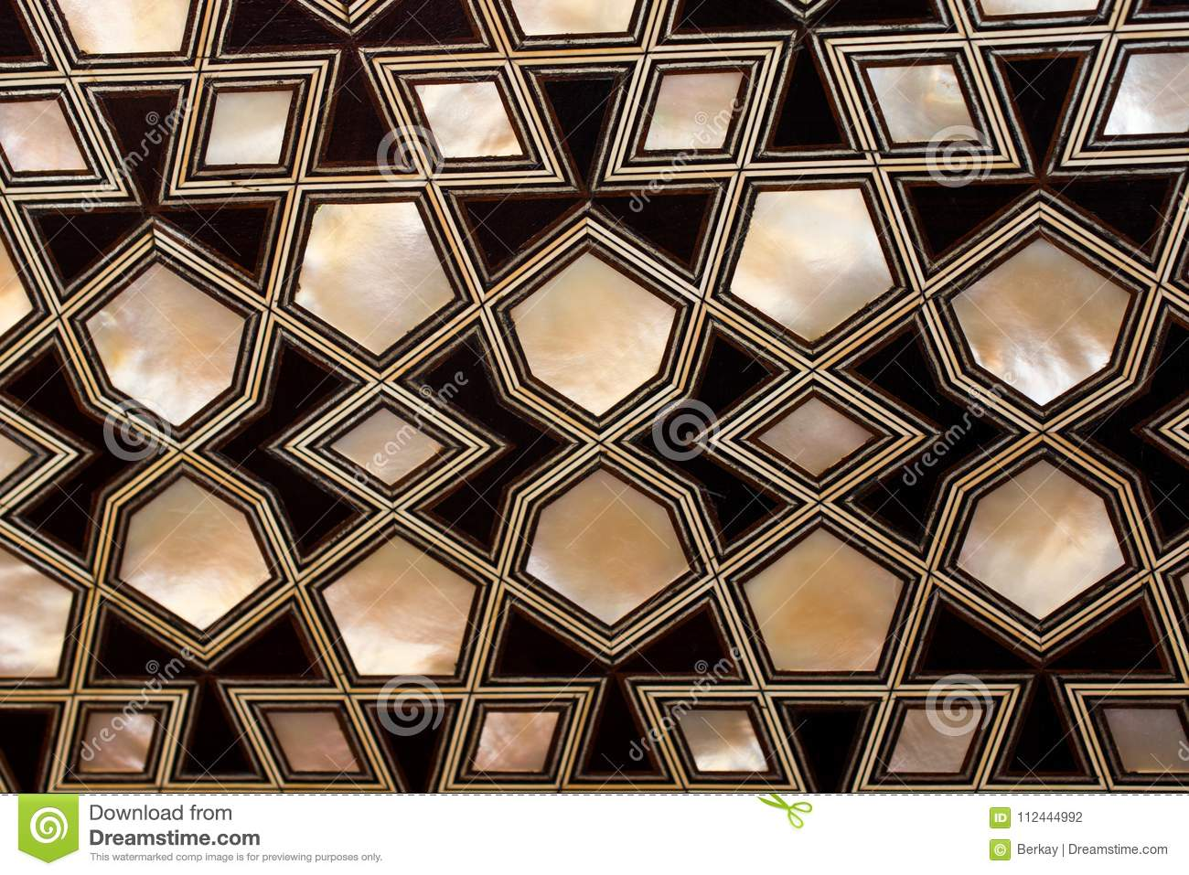 Example Of Mother Of Pearl Inlays Stock Photo Image Of Figure