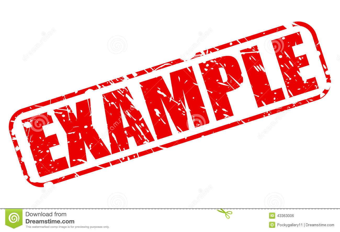 Example Red Stamp Text Stock Vector - Image: 43363006