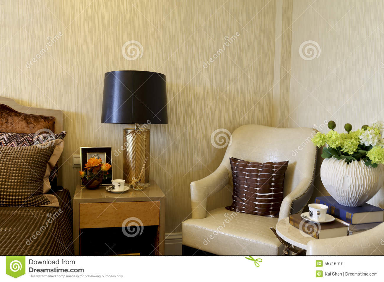 Picture of: Example Room Apartment In The Master Bedroom Decorate Stock Photo Image Of Desk Decorative 55716010