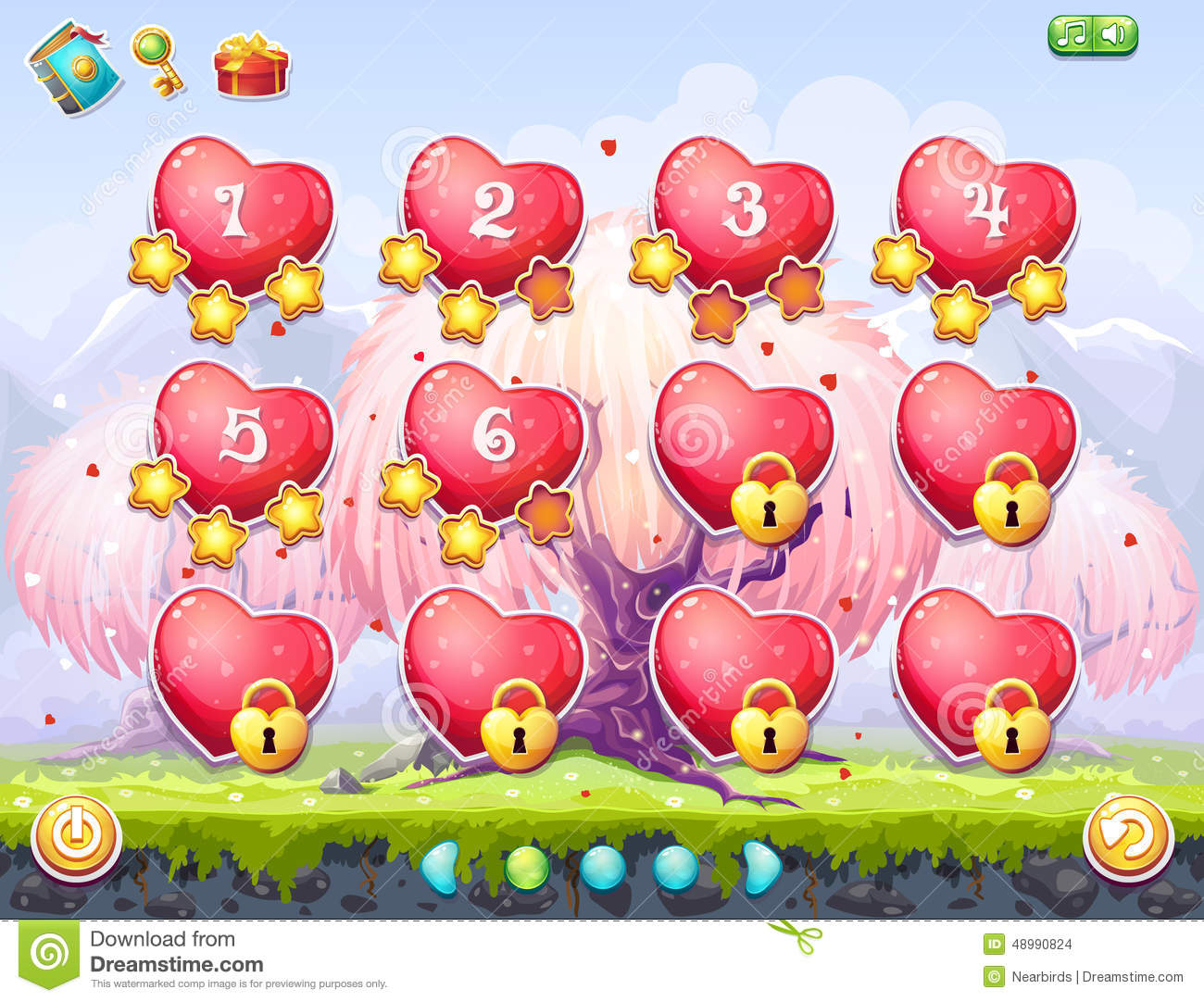 Example Of Selection Of Levels On The Topic Valentine's Day Stock ...