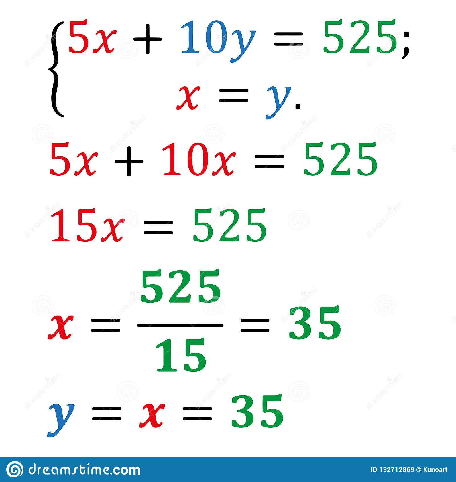 How to solve algebra equations with two variables