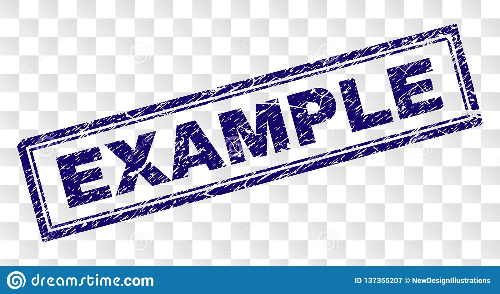 Grunge Example Rectangle Stamp Stock Vector