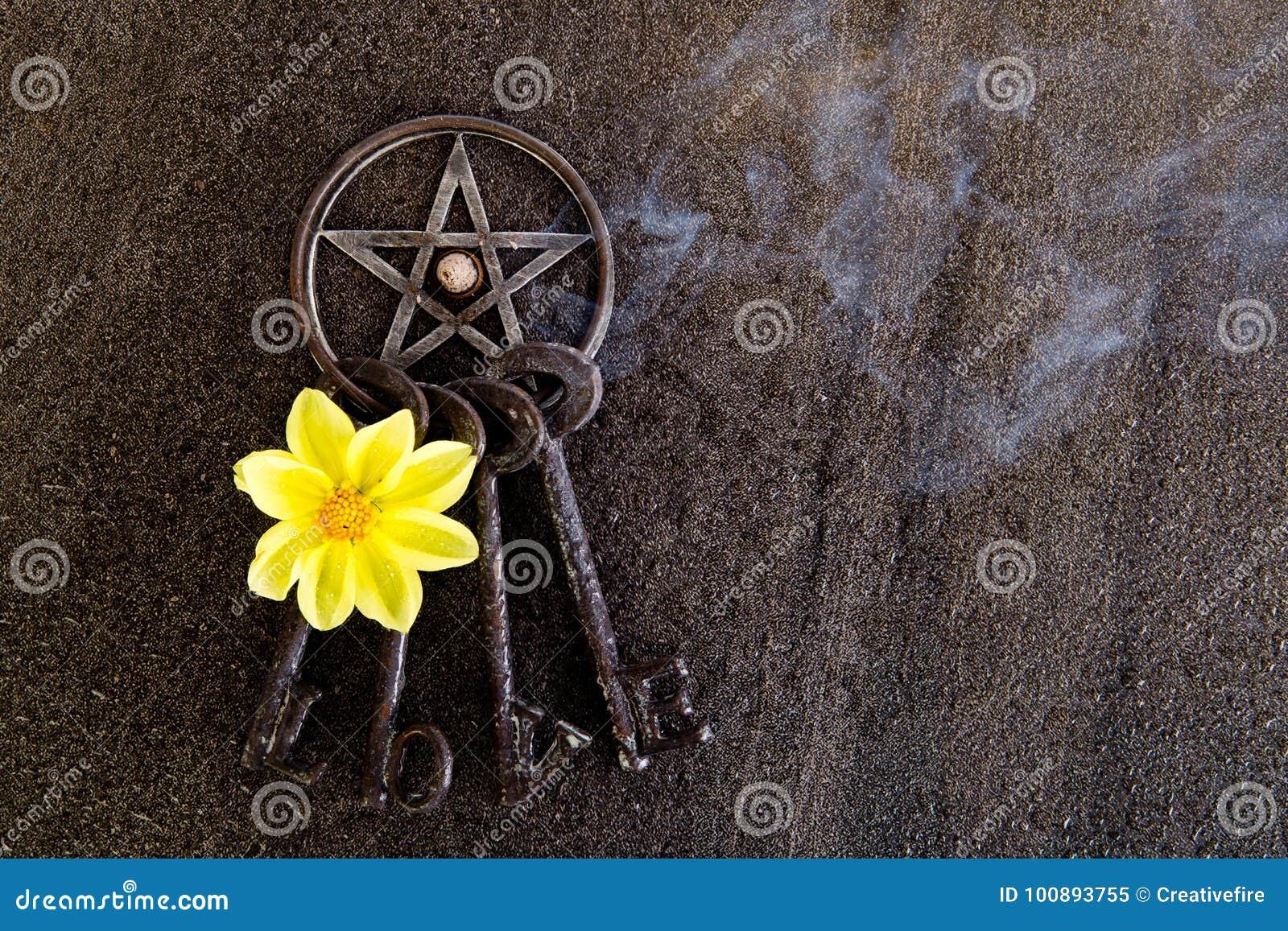 Exaspérez le burning dans le pentagone étoilé gris en métal avec le porte-clés d amour sur le sla