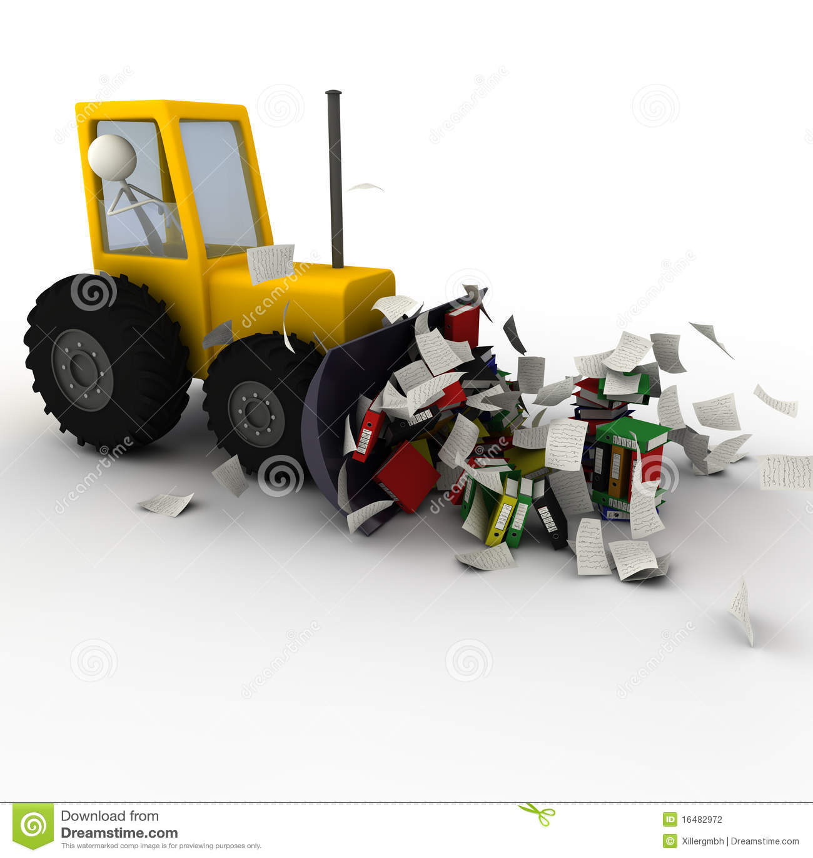 Excavador que quita caos