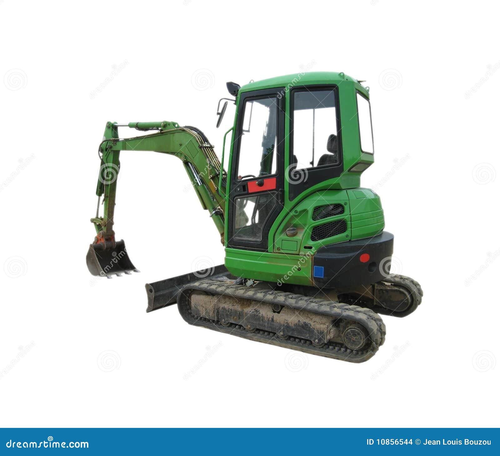 Excavador verde