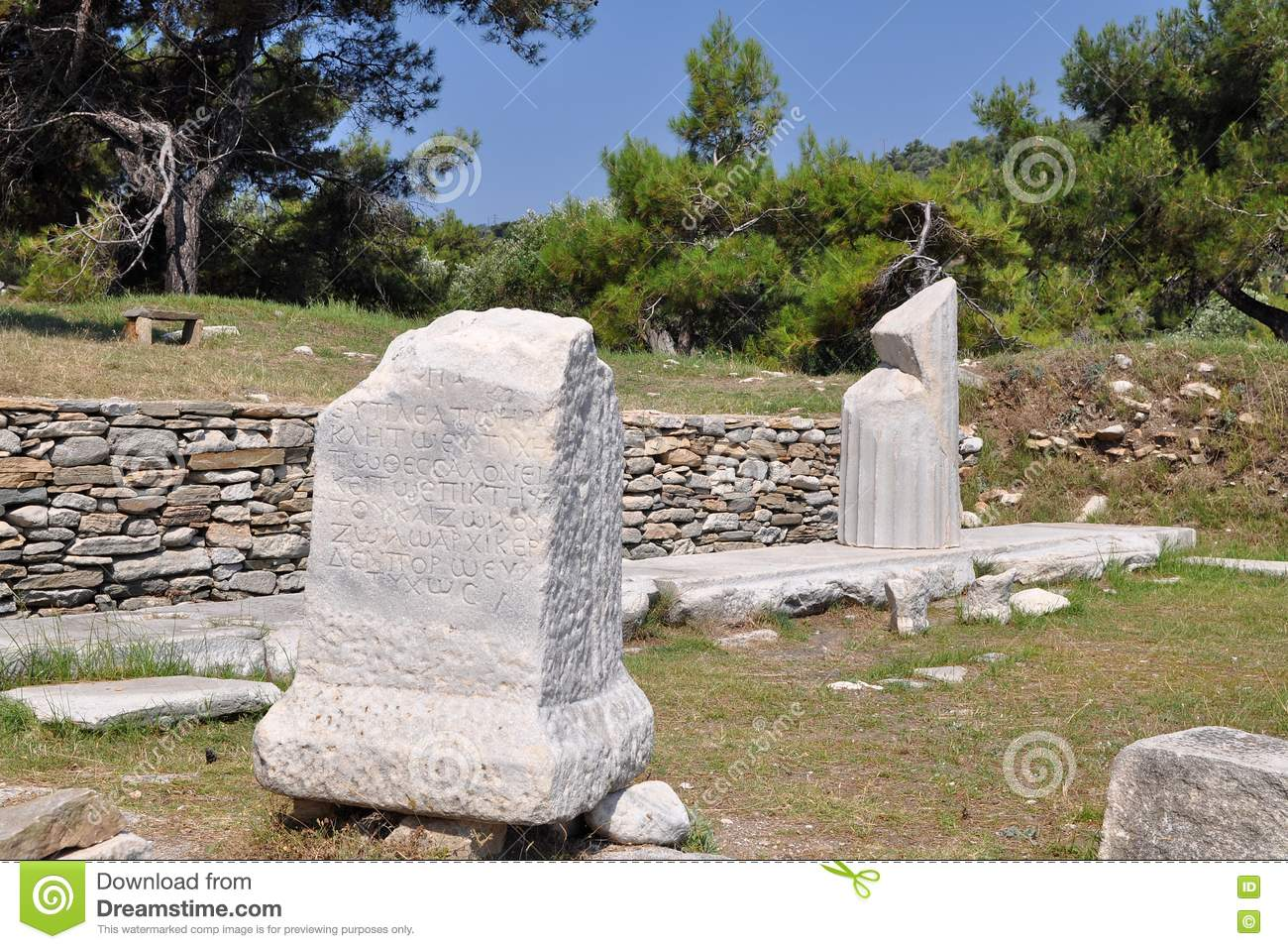 Excavation In Aliki, Thassos, Greece Stock Image - Image ...