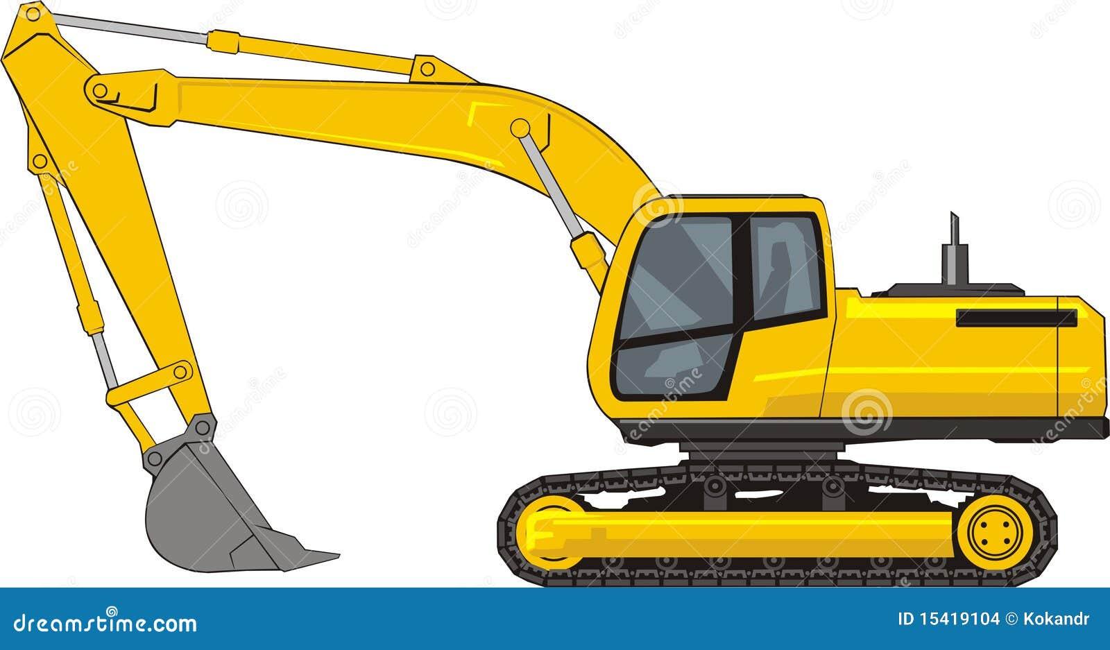 Excavator stock vector. Image of industrial, scoop, digger ...