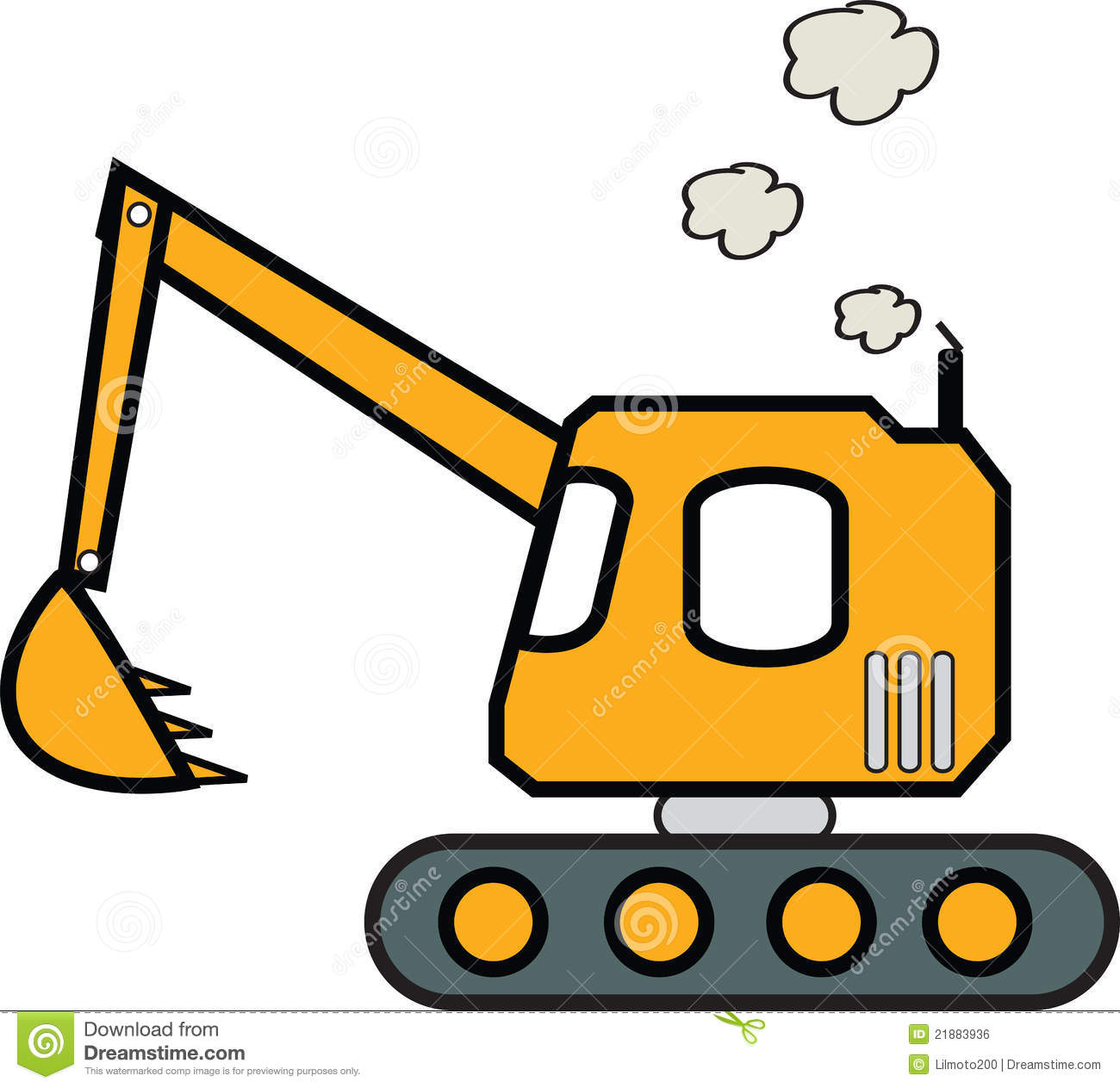 Caterpillar Excavator Stock Illustrations – 234 Caterpillar ...